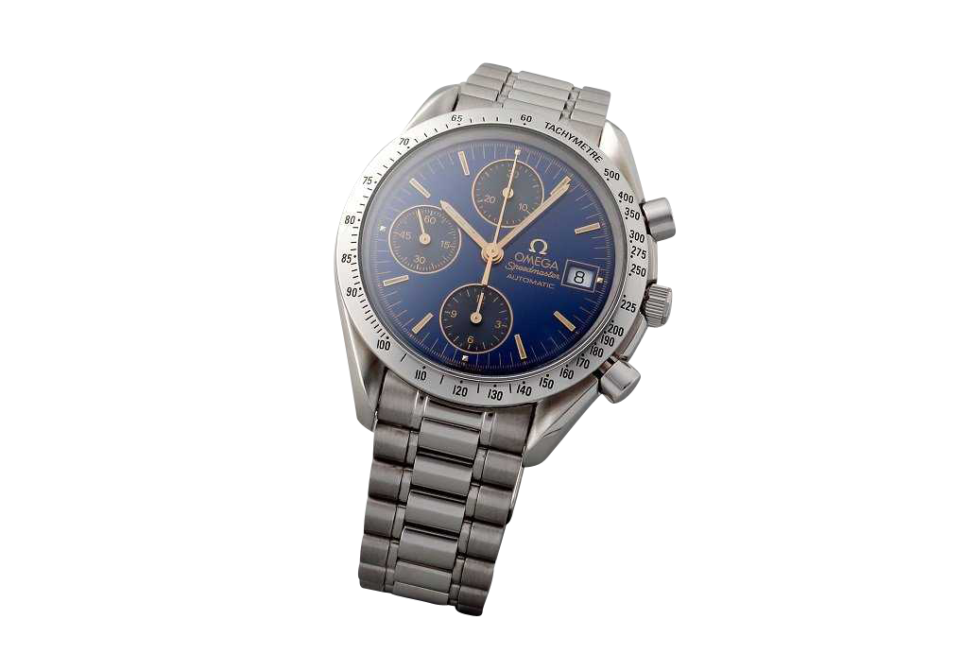 Lot #3248 Special Edition Cobalt Blue Omega Speedmaster Date Auction Auction