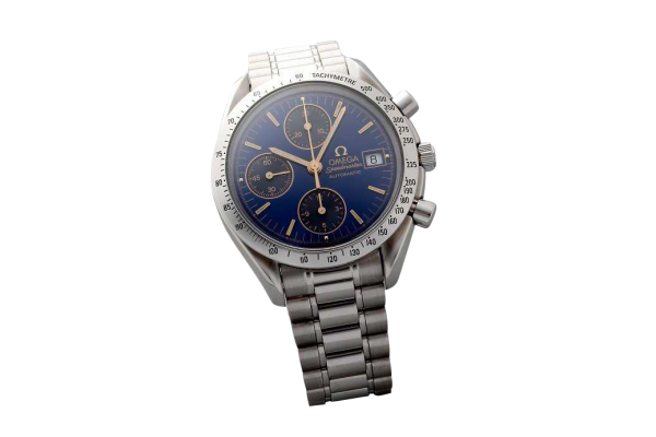 Lot #3192 Special Edition Cobalt Blue Omega Speedmaster Date