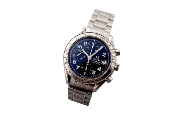 Lot #3194B Special Edition Blue Arabic Omega Speedmaster Date