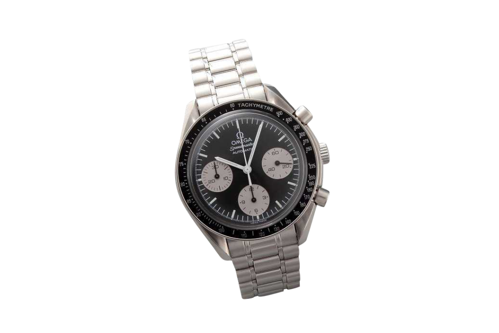 Lot #3248A Special Edition Black Grey Omega Speedmaster Watch Auction Auction