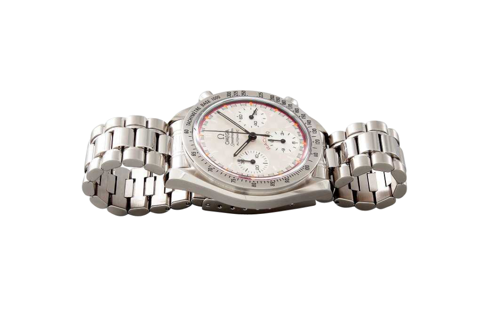 Lot #3208 Limited Stainless Omega Speedmaster Silver Schumacher Auction Auction