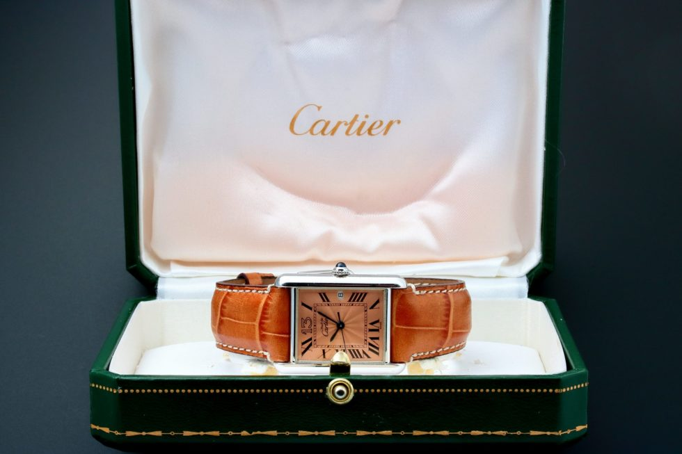 Lot #3216 – Cartier Tank 13 Sterling Silver Anniversary Watch Cartier Anniversary Edition