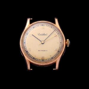 Vintage Gents 18K Yellow Gold Cortebert Wristwatch