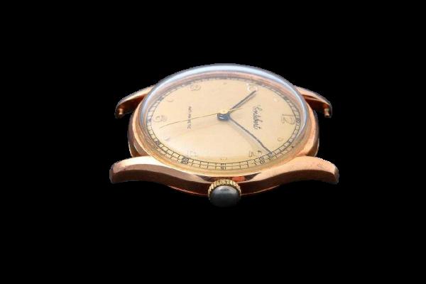 Lot #3222 Vintage Gents 18K Yellow Gold Cortebert Wristwatch