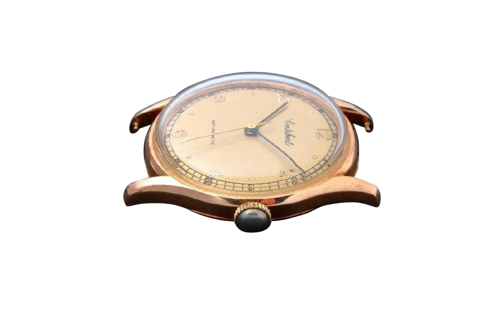 Lot #3222 Vintage Gents 18K Yellow Gold Cortebert Wristwatch