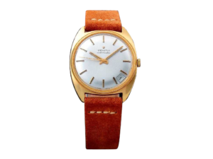 Vintage Gents 18k Yellow Gold Zenith Date Watch.