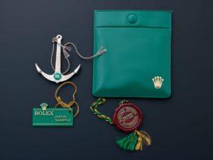 Lot #6251 – Rolex Green Dot Anchor Hang Tags Pouch Accessories Rolex