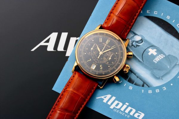 Alpina Heritage Pilot Chronograph Watch AL-850BB3H17 - Baer & Bosch Auctioneers