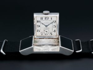 Lot #6257 – Sterling Silver Tavannes Golf Belt Watch 0125968 Belt Watch Double Signed Dial