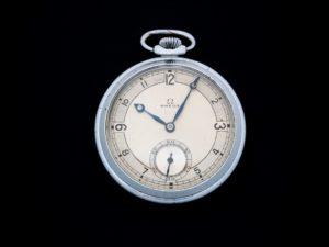 Lot #3849 – Omega Pocket Watch Vintage Deco Style Dial Omega Art Deco