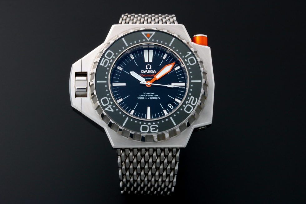Lot #3218 – Omega Seamaster Ploprof Co-Axial 1200M Watch 224.30.55.21.01.001 Omega Omega
