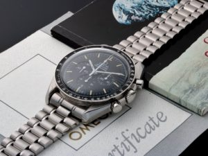 Lot #7591 – Omega ST145.022 Speedmaster Apollo 11 Moon Watch Limited Edition Moon Chronograph