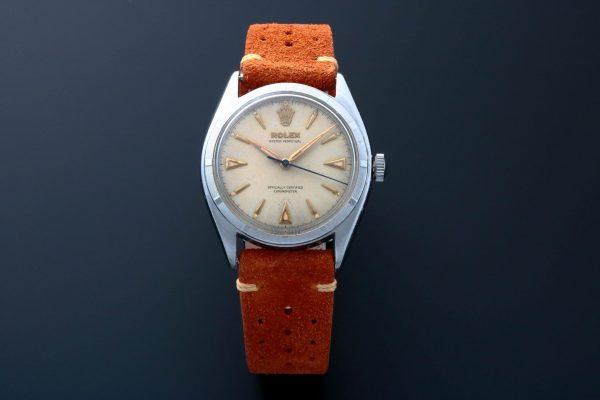 Rolex Semi Bubbleback Oyster Perpetual Watch 6085 - Baer & Bosch Auctioneers