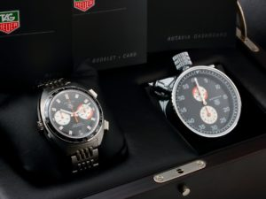 Tag Heuer Autavia Caliber 11 Watch & Dashboard Set CY2111 - Baer & Bosch Auctioneers