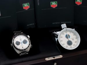 Lot #6620 – Tag Heuer Autavia Siffert Blue Watch & Dashboard Set CY2110 Autavia Autavia CY2110