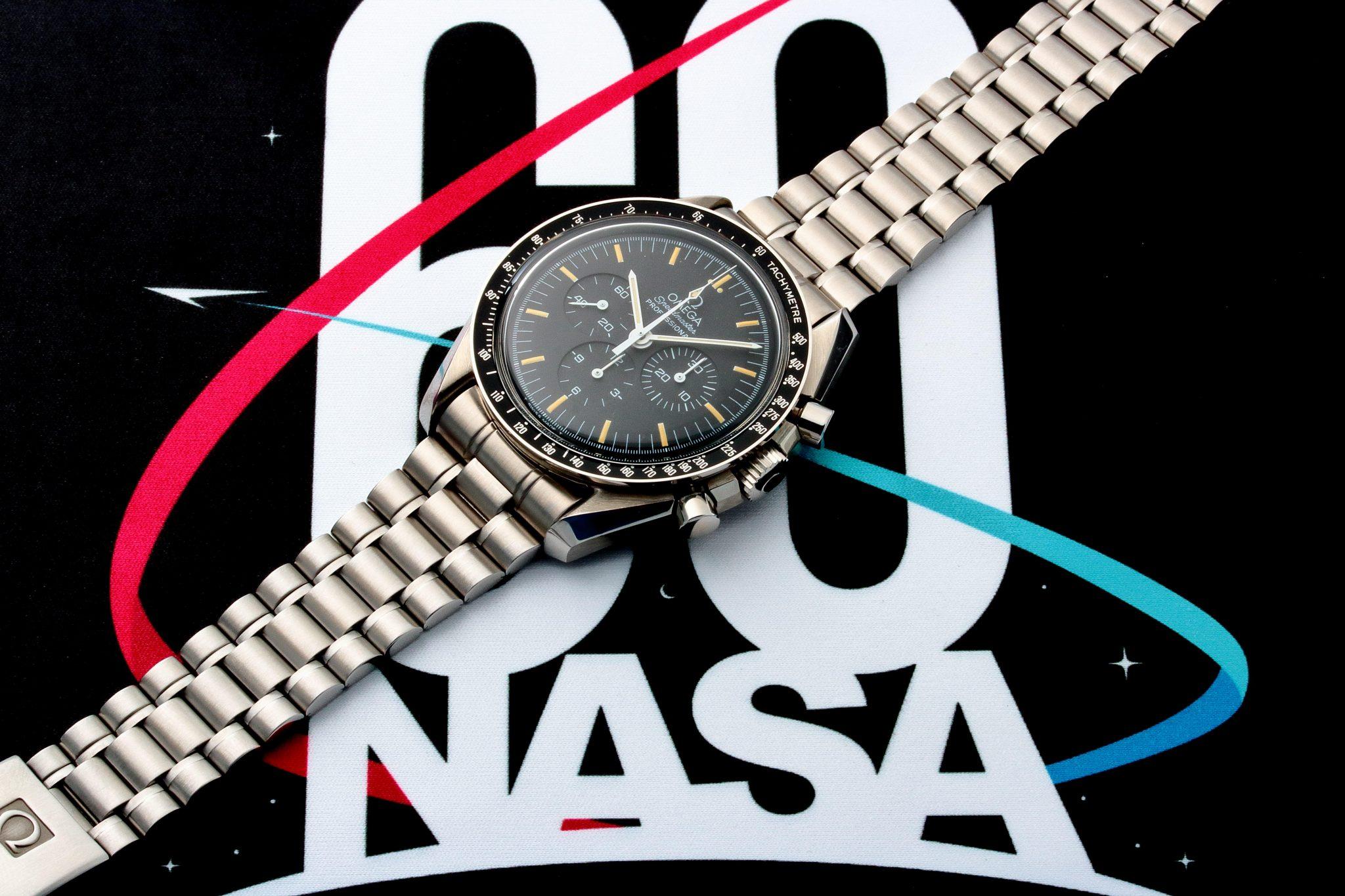 03e969a82de Lot #3243 – Omega Speedmaster Apollo 11 25th Anniversary Moon Watch  3591.50.00