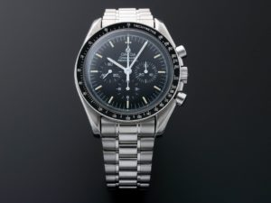 Lot #6208 – Omega Speedmaster Apollo XI Moon Skeleton Watch 3592.50.00 Moon Chronograph