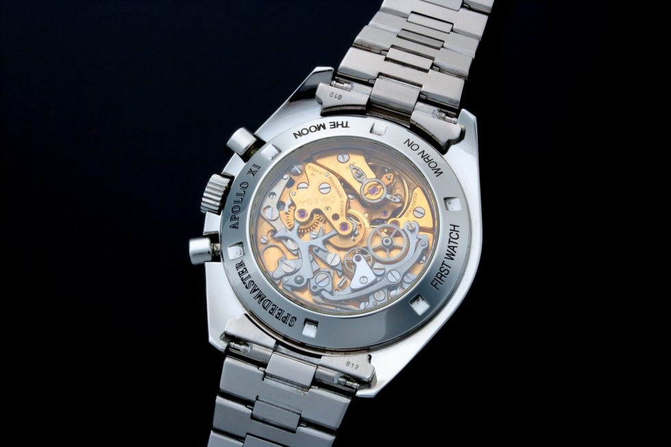 Lot #6754 – Omega Speedmaster Apollo XI Moon Skeleton Watch 3592.50.00 Moon Chronograph