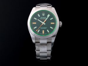 Lot #11528 – Rolex 116400GV Milgauss Green Sapphire Watch 116400GV Glace Verte