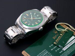 Lot #7743 – Rolex Milgauss Green Sapphire Watch 116400GV Milgauss Glace Verte