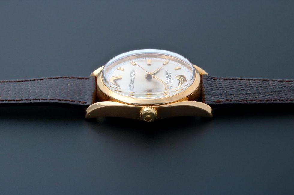 Lot #3187A – Rolex Oyster Perpetual Bombay Watch 6590 Oyster Perpetual Fancy Lugs