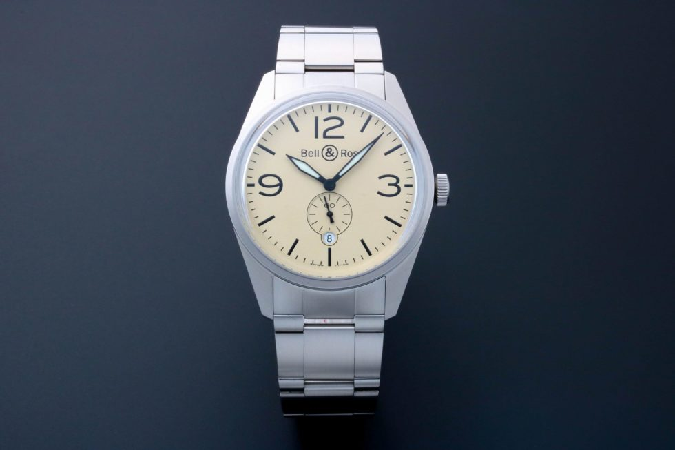 Lot #3156B – Bell & Ross Original Beige Watch BRV123-BEI-ST/SST Bell & Ross Bell & Ross