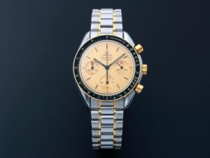 Lot #9223 – Omega 3310.10 Speedmaster Chronograph Tutone Watch 3310.10 Chronograph