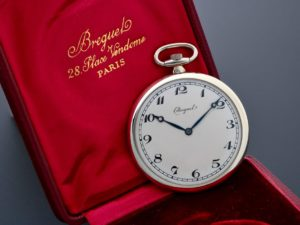 Breguet 18k White Gold Pocket Watch - Baer & Bosch Auctioneers