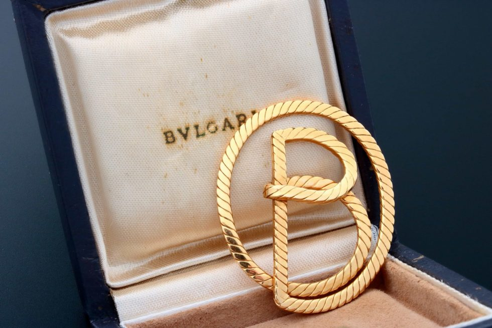 Lot #9652 – Vintage Bvlgari 18k Yellow Gold Money Clip Jewelry Bulgari