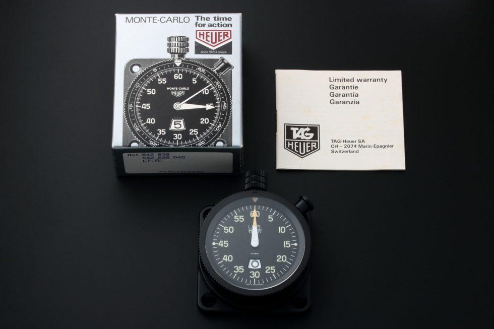 Lot #3139A – Heuer IFR Dashboard Timer Stopwatch 542.838.040 Clocks Tag Heuer