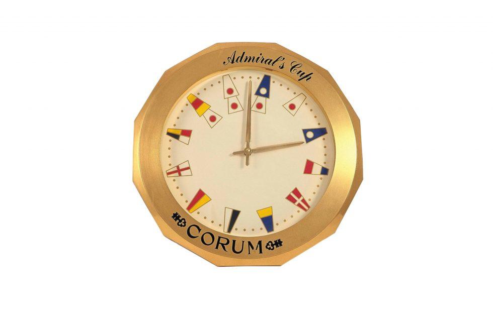 Lot #6774 – Corum Admiral's Cup Dealer Display Clock Clocks Corum Admiral's Cup Clock