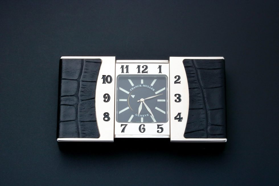 Lot #3187 – Franck Muller Ermeto Travel Alarm Desk Clock Clocks Franck Muller