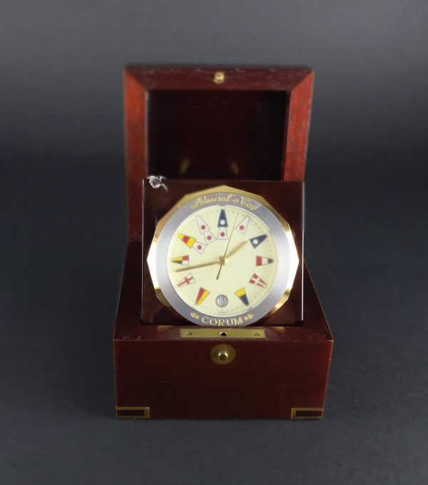 Corum Admiral's Cup Desk Clock - Baer Bosch Auctioneers