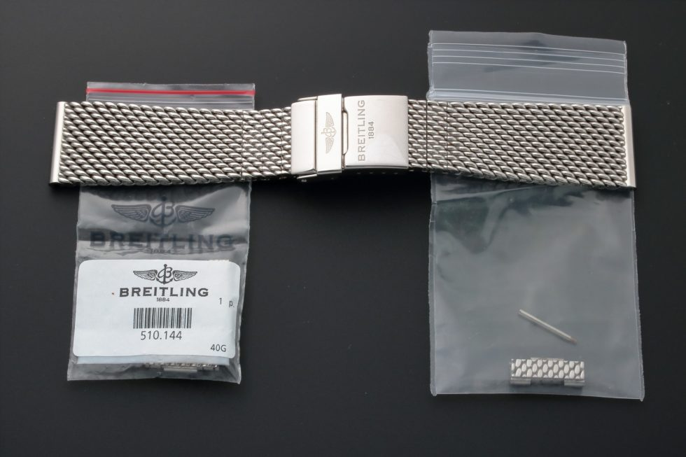 Lot #3203F Breitling Watch Mesh Bracelet 22MM 154A Watch Bracelets 22mm
