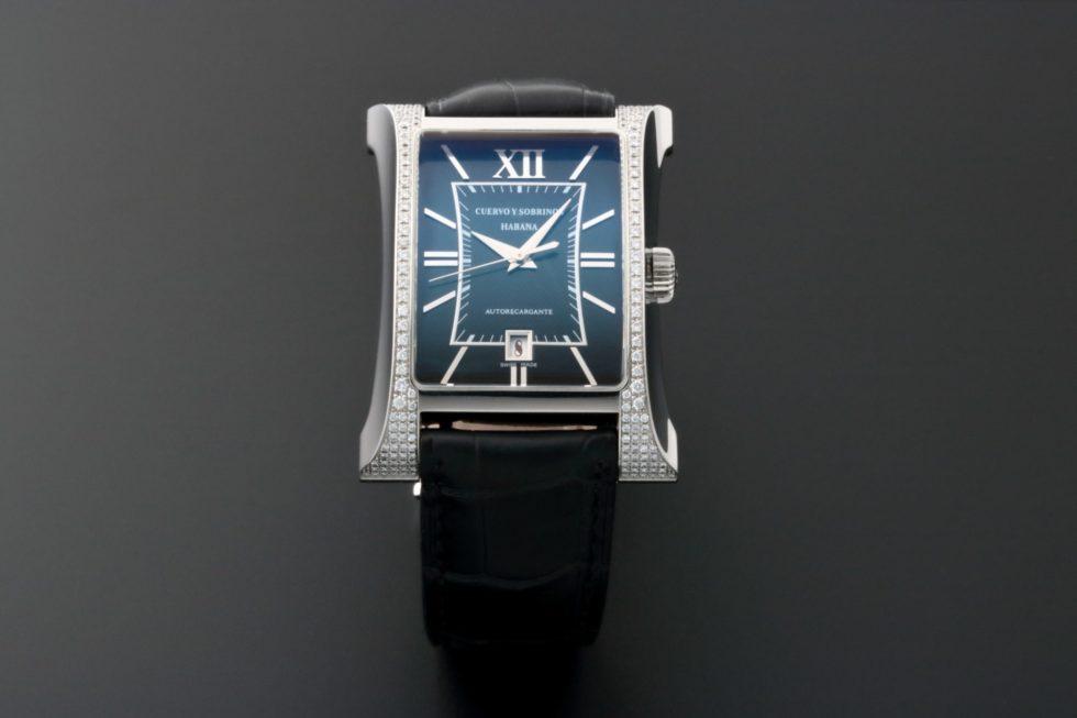 Lot #3208A – Cuervo y Sobrinos Habana Esplendidos Watch Diamond Bezel A2412/2 Cuervo y Sobrinos Cuervo y Sobrinos