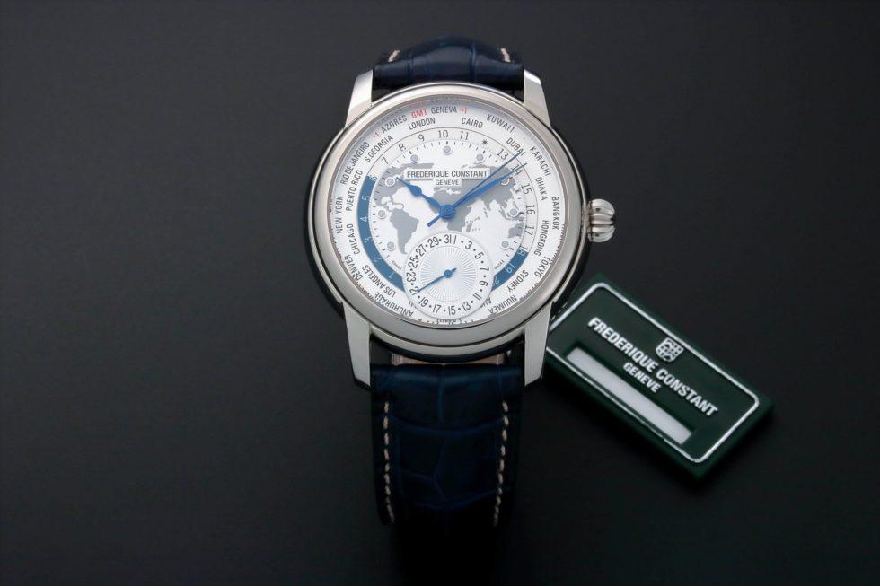 Lot #3211 – Frederique Constant Kuwait World Time GMT Watch FC-718KW4H6 Frederique Constant Frederique Constant FC-718KW4H6