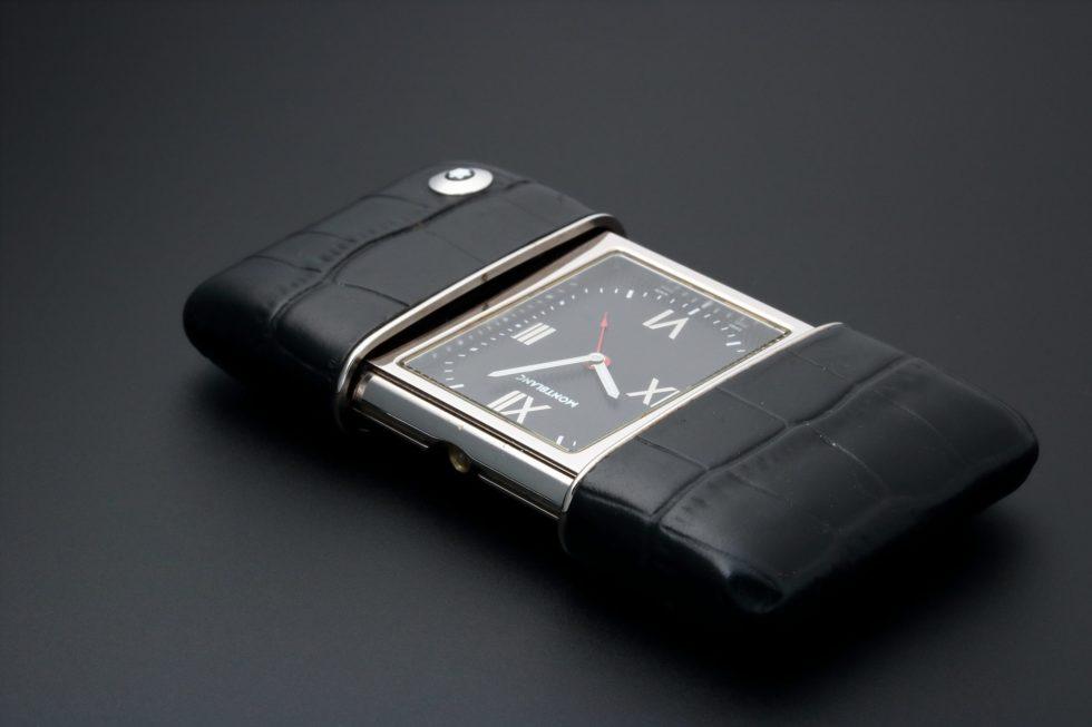 Lot #3190A – Montblanc Ermeto Alarm Travel Desk Clock Clocks Montblanc