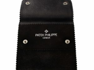Patek Philippe Suede Leather Travel Pouch - Baer Bosch Auctioneers