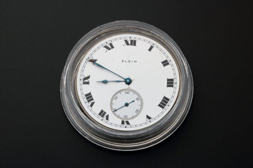 Lot #4973 – Elgin Pocket Watch Dial Movement Parts Elgin Elgin