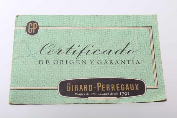 Girard Perregaux Warranty Certificate Booklet - Baer Bosch Auctioneers