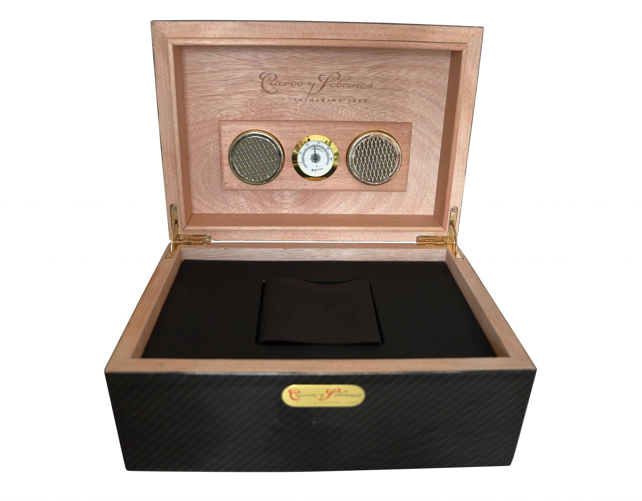 Lot #3616 Cuervo y Sobrinos Carbon Fiber Humidor Watch Box