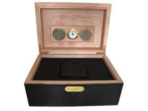 Cuervo y Sobrinos Carbon Fiber Humidor Watch Box - Baer Bosch Auctioneers