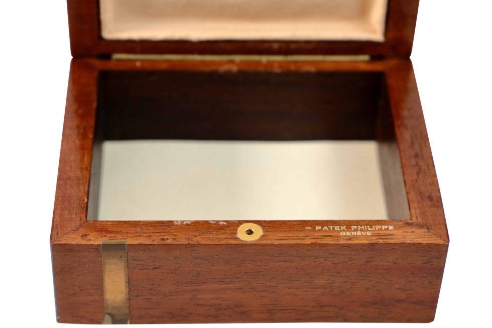 Lot #3498 – Patek Philippe Wooden Box Watch Parts & Boxes Patek Philippe