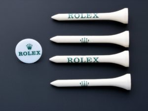Rolex Wooden Golf Tee Place Holder Set - Baer Bosch Auctioneers