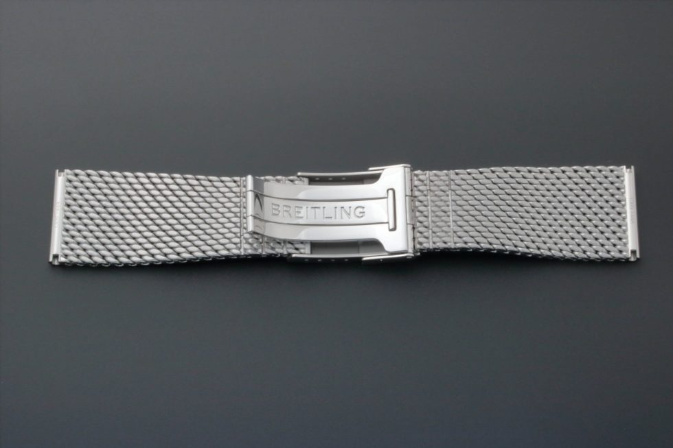 Lot #3643 – Breitling Watch Mesh Bracelet 24MM 1309 144A Breitling Breitling 1309 144A