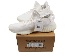 Lot #5719 – Adidas Yeezy Boost 350 V2 Cream-Triple White CP9366 Size 11 Various [tag]