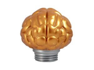 Lot #5177 – Bait Brain Lamp Gold Art Toys [tag]
