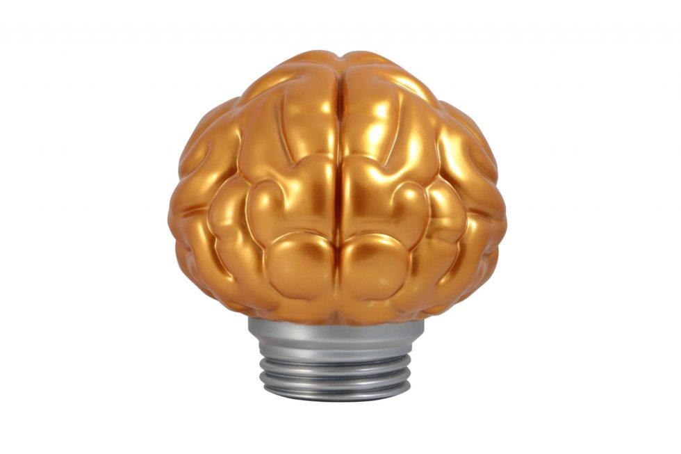 Lot #7341 –  N.E.R.D x Billionaire Boys Club Brain Lamp Gold Art Toys [tag]