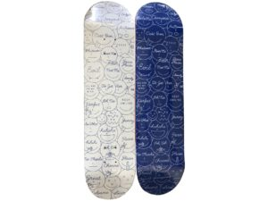 Lot #7238 – Ceizer x Colette Mixed Emotions Skateboard Skate Deck Set Skateboard Decks [tag]