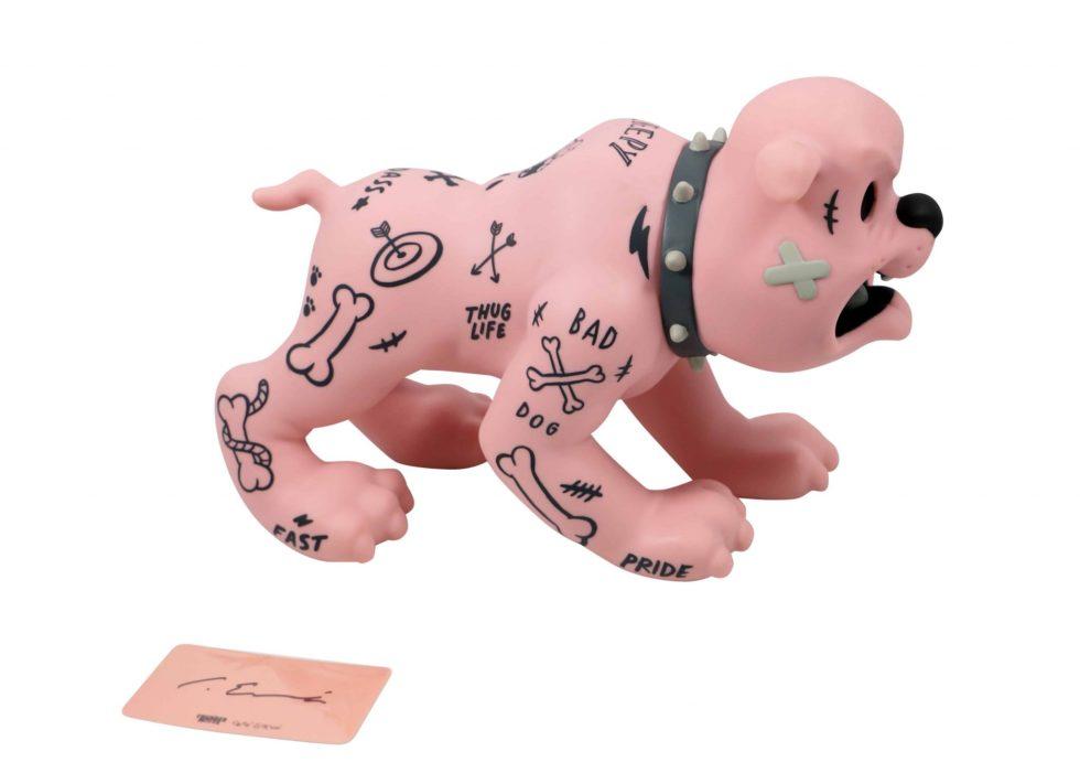 Lot #5175 – Cote Escriva x Thunder Mates Creepy Dog Pink Version Figure [category] Cote Escriva
